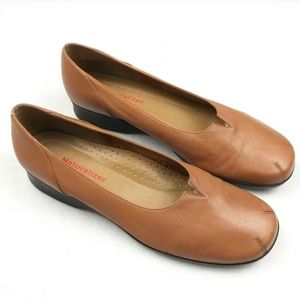Naturalizer Earth/Terracotta Leather Slip Ons 8.5
